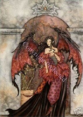 """Amy Brown Large Print Greeting Card 5.5""""x8.5""""  Fantasy Goth Follow Me Fairy New"""