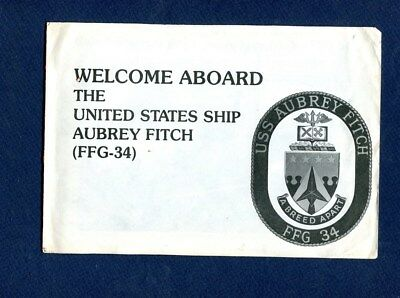 FFG 34 USS AUBREY FITCH WELCOME ABOARD Booklet US Navy Ship Squadron Pamphlet
