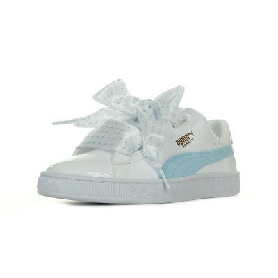 d54623bfeb8f30 Chaussures Baskets Puma femme Basket Heart Stars Jr taille Blanc Blanche