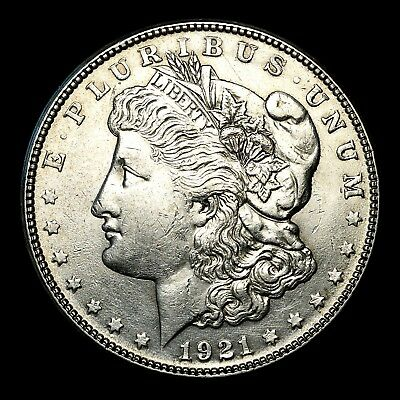 1921 S ~**ABOUT UNCIRCULATED AU**~ Silver Morgan Dollar Rare US Old Coin! #R59