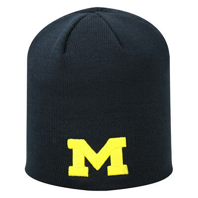 buy online b9565 6aade Michigan Wolverines Official NCAA Knit Beanie Stocking Hat Cap 950518