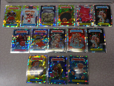 Lot of 14 2013 Topps Garbage Pail Kids ATOMIC REFRACTOR