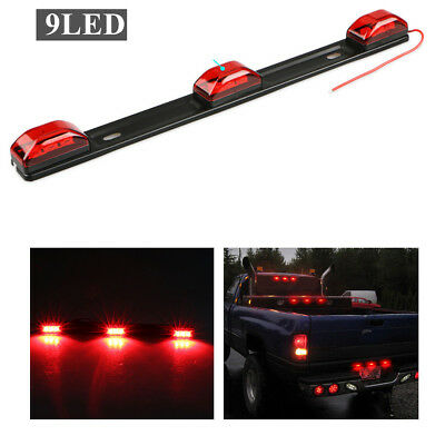14 inch LED Truck Tailgate Light Bar Strip Clearance side Marker Lamp Red 9 LED