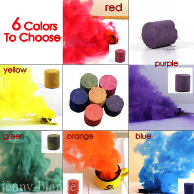 Colorful Assorted Smoke Cake Effect Show Round Photography Movie Aid Tool