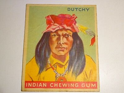 1933 INDIAN CHEWING GUM trading card #40 Dutchy Goudey Gum Company