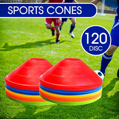 60/120 Pack Fitness Exercise Sports Training Discs Markers Cones Soccer Rugby