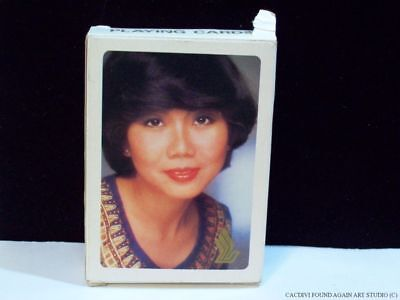 Vintage Singapore Airlines Playing Cards Sealed Deck Open Box Girl Old Aviation
