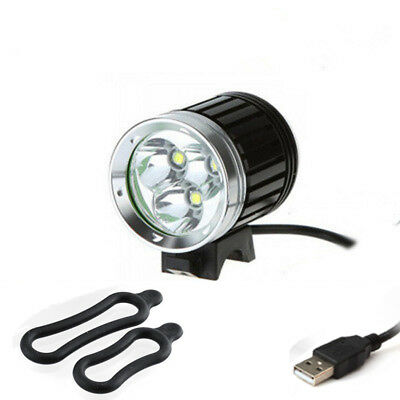 6000Lm 3X CREE XM-L T6 LED Front Bicycle Head Lamp Bike Light Outdoor Waterproof