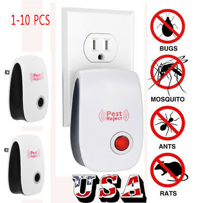 1-10x Ultrasonic Pest Reject Electronic Magnetic Repeller Mosquito Insect Killer