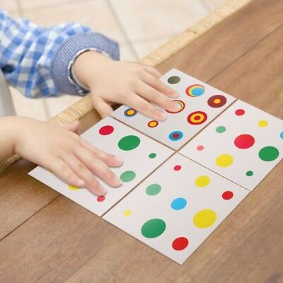 Montessori Early Childhood Fast Memory Education Colors Matching Cylinder Card