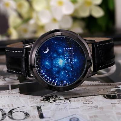 Digital LED Touch Screen Starry Moon Star Classic  Watch Women Men Couple KZ