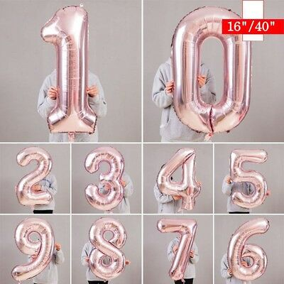16 40 Giant Foil Number Balloons Letter Air Only Birthday Age Party Wedding
