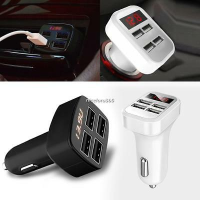 Portable 4 USB Chargers DC12V to 5V Car Chargers For IPhone 7 6S/ Galaxy N4U8 01
