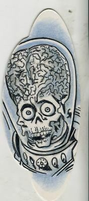 Mars Attacks The Revenge Shaped Sketch Card By Todd Aaron Smith