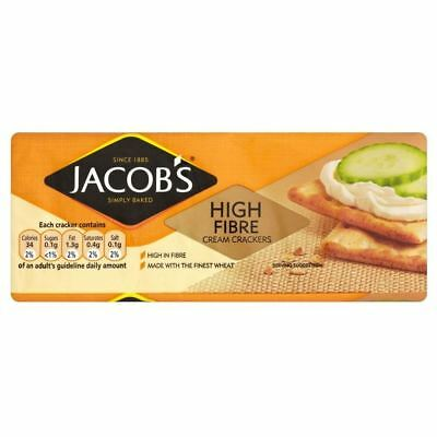 Jacob's High Fibre Cream Crackers (200g) (Pack of 2)