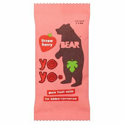 Bear Pure Fruit Yo Yos Strawberry (20g) (Pack of 2)