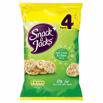 Snack-A-Jacks Sour Cream & Chive (4X22g) (Pack of 2)