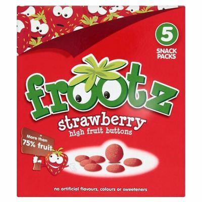 Frootz Strawberry High Fruit Buttons (5X18g) (Pack of 2)