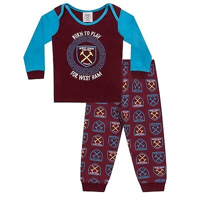 West Ham United FC Official Football Gift Boys Kids Baby Pyjamas