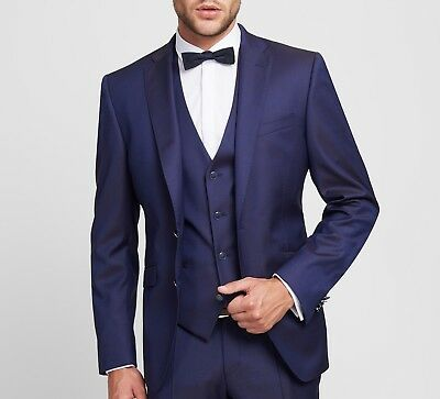 68fac87516 ABITO BLU ELEGANTE con Panciotto Digel Slim Fit Lana Stretch Luxury Super  110's