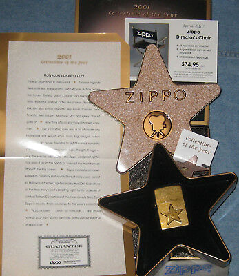 ZIPPO  LEADING LIGHT Lighter HOLLYWOOD 2001 COLLECTIBLE of the YEAR Limited CODY