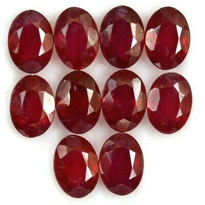 Wholesale Lot of 4x3mm Oval Facet Natural African Red Ruby Loose Calibrated Gems