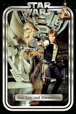 STAR WARS - HAN AND CHEWBACCA MOVIE POSTER (US Version) (24x36)