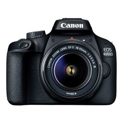 "Canon 3011C003 EOS 4000D Kit - SLR Camera - 18 MP - Display: 6.86 cm/2.7"" TFT -"