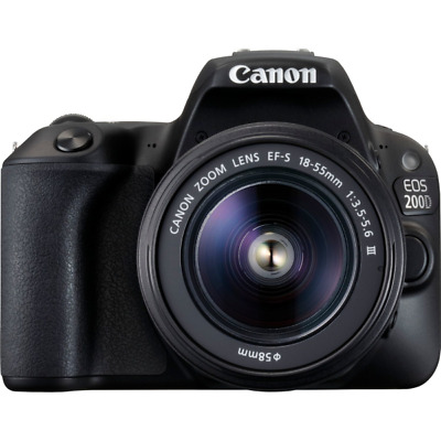 "Canon 2250C011 EOS 200D - SLR Camera - 24.2 MP CMOS - Display: 7.62 cm/3"" TFT -"