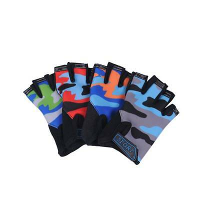 1 Pair Kids Youth Cycling Bike Bicycle Sports Half Finger Fingerless Gloves