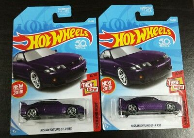 Nissan Skyline GT-R R33 #193 * PURPLE * 2018 Hot Wheels lot of 2 new jdm usdm