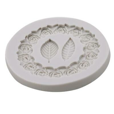 Round Multiple Leaf shapes Silicone Mould Cake Icing Decoration Plant Leaves LC