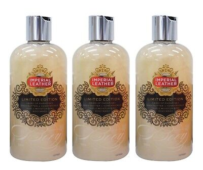 3 X IMPERIAL LEATHER 500mL BODYWASH LIMITED EDITION BIRD OF PARADISE - NEW