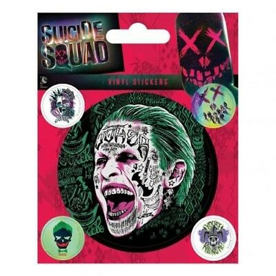 Suicide Squad Joker Vinyl Self Adhesive Sticker Set Free UK P&P