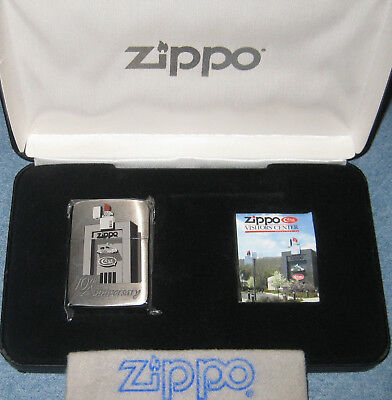 ZIPPO 10TH ANNIVERSARY Lighter VISITORS CENTER Limited Edition 2007 Damaged Box