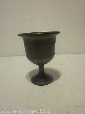 """Vintage Solid Bronze Or Brass Miniature Wine Goblet 2-1/2"""" Tall"""