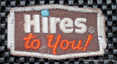 """HIRES TO YOU ROOT BEER SEW ON ONLY PATCH ADVERTISING BEVERAGE SODA 3"""" x  1 7/8"""""""