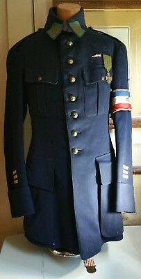 Scarce-100% Original World War One French Tunic To A Capt. Of Supply/transport