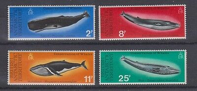 BRITISH ANTARCTIC TERR. 64-67 WHALES mint NH