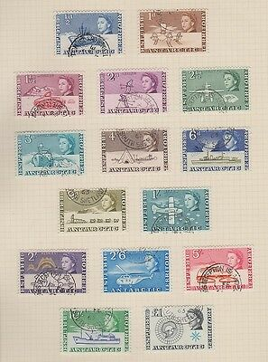 BRITISH ANTARCTIC TERR. 1-15 First set compl. used 1963