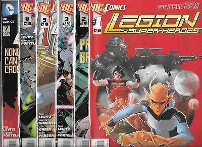 Legion Of Super-Heroes Lot Of 10  #1 #2 #3 #5 #6 #7 #11 #12 #13 #18 (Nm-) New 52