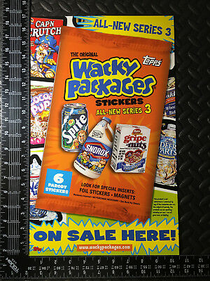 Wacky Packages Ans3 2006 All-New Series 3 Unfolded Window Poster Ad Promo