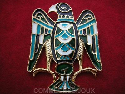 """Broche """"Aigle Royal"""" Turquoise By FRIED Grand Rapace - Bijoux pur Collection"""