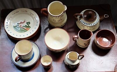 Collection of Motto Ware - Watcombe, Dartmouth, Carrig and Longpark