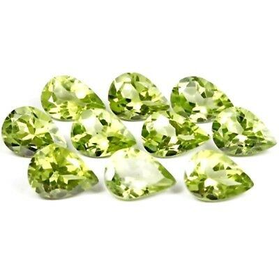 Wholesale Lot of 6x4mm Pear Facet Cut Natural Peridot Loose Calibrated Gemstone