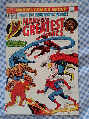 Marvel's Greatest Comics 55, Fantastic Four 73, Kirby Art Spider-Man Daredevil