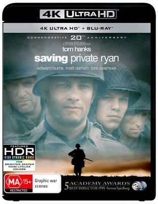 Saving Private Ryan UHD 4K Blu-ray Region B New!
