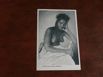 Original Ethnic Nude Postcard - African Woman, Hand To Face.