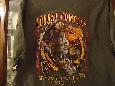 Corral Complex Six Rivers Willow Creek Forest CA  Fire 2XL t-shirt