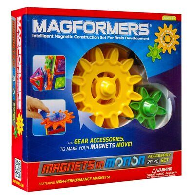 Magformers Magnets in Motion 20-Piece Gear Set